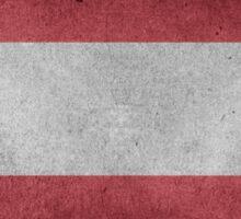Austria Flag Grunge Sticker
