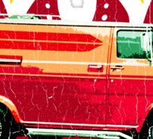 Retro 70s Van (vintage distressed) Sticker