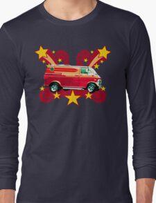 Retro 70s Van (vintage distressed) Long Sleeve T-Shirt