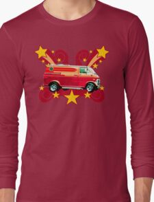 Retro 70s Van (vintage distressed) Long Sleeve T-Shirt