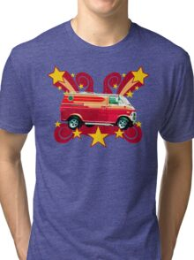 Retro 70s Van (vintage distressed) Tri-blend T-Shirt