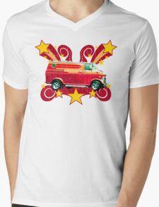 Retro 70s Van (vintage distressed) Mens V-Neck T-Shirt