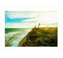 Awesome landscape of seashore Art Print