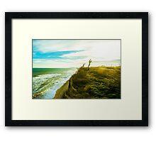 Awesome landscape of seashore Framed Print