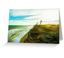 Awesome landscape of seashore Greeting Card