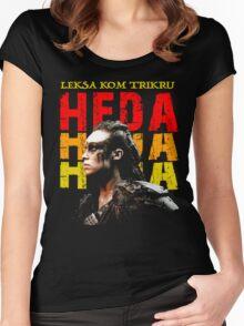 Heda Leksa Kom Trikru Women's Fitted Scoop T-Shirt