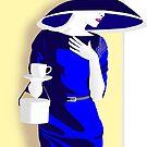 Blue tea dress by Michael Birchmore