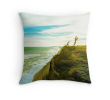 Awesome landscape of seashore Throw Pillow