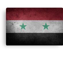 Syria Flag Grunge Canvas Print
