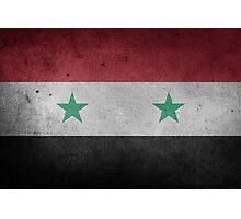 Syria Flag Grunge Photographic Print