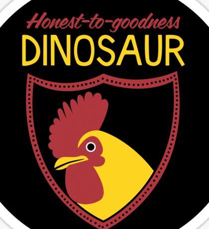 Honest-To-Goodness Dinosaur: Rooster (on dark background) Sticker