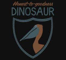 Honest-To-Goodness Dinosaur: Pelican (on dark background) One Piece - Long Sleeve