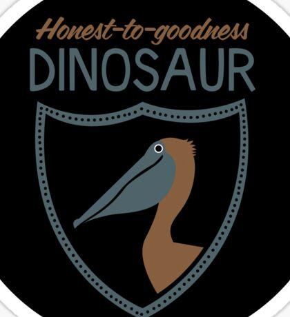 Honest-To-Goodness Dinosaur: Pelican (on dark background) Sticker