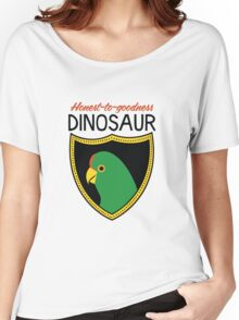 Honest-To-Goodness Dinosaur: Parakeet (on light background) Women's Relaxed Fit T-Shirt