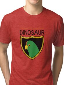 Honest-To-Goodness Dinosaur: Parakeet (on light background) Tri-blend T-Shirt
