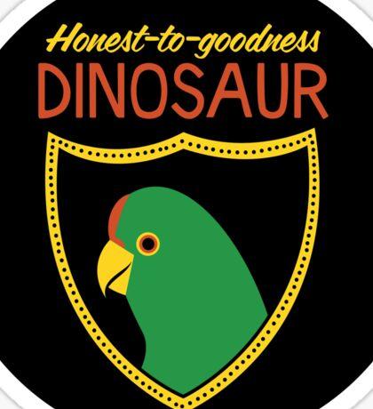 Honest-To-Goodness Dinosaur: Parakeet (on light background) Sticker