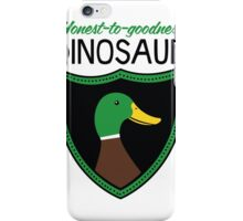 Honest-To-Goodness Dinosaur: Duck (on light background) iPhone Case/Skin