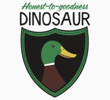 Honest-To-Goodness Dinosaur: Duck (on light background) One Piece - Long Sleeve