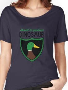 Honest-To-Goodness Dinosaur: Duck (on light background) Women's Relaxed Fit T-Shirt