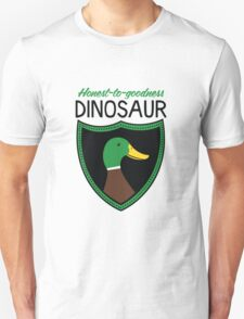 Honest-To-Goodness Dinosaur: Duck (on light background) Unisex T-Shirt