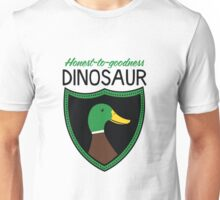 Honest-To-Goodness Dinosaur: Duck (on light background) Unisex T-Shirt