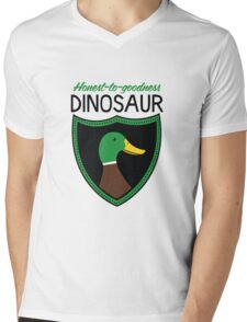 Honest-To-Goodness Dinosaur: Duck (on light background) Mens V-Neck T-Shirt