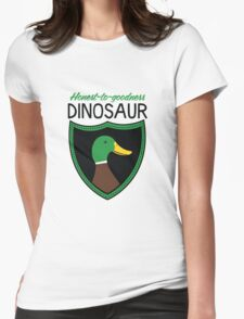 Honest-To-Goodness Dinosaur: Duck (on light background) Womens Fitted T-Shirt