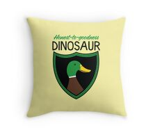 Honest-To-Goodness Dinosaur: Duck (on light background) Throw Pillow