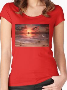 End of Day - Kincardine, Lake Huron, Ontario Women's Fitted Scoop T-Shirt