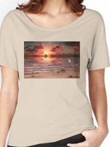 End of Day - Kincardine, Lake Huron, Ontario Women's Relaxed Fit T-Shirt