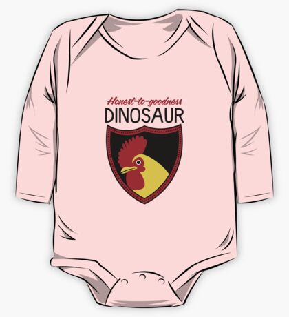 Honest-To-Goodness Dinosaur: Rooster (on light background) One Piece - Long Sleeve