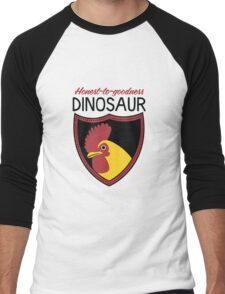 Honest-To-Goodness Dinosaur: Rooster (on light background) Men's Baseball ¾ T-Shirt