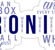 Geronimo! Eleventh Doctor Sticker