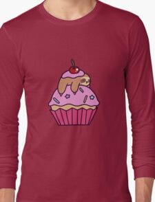 Cupcake Sloth Long Sleeve T-Shirt