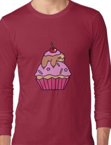 Cupcake Sloth Long Sleeve T-Shirt