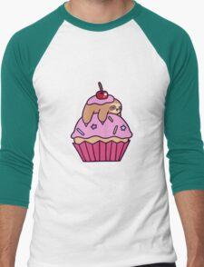 Cupcake Sloth Men's Baseball ¾ T-Shirt