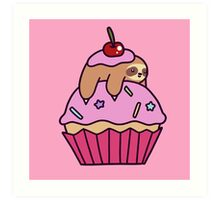 Cupcake Sloth Art Print