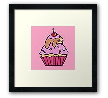 Cupcake Sloth Framed Print