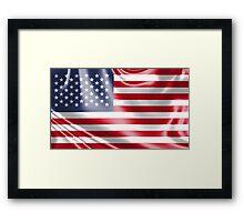 USA shiny flag design Framed Print