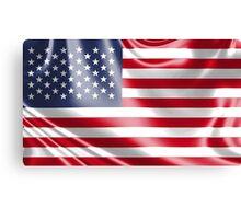 USA shiny flag design Canvas Print