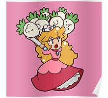 Princess Peach with Turnips Poster