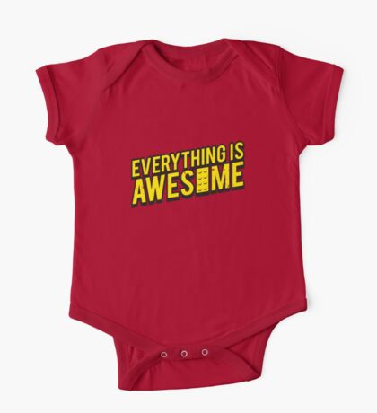 Everything is Awesome (aged look) One Piece - Short Sleeve