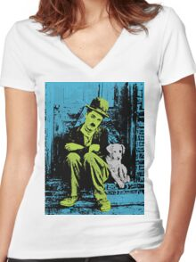 IT'S A DOG'S LIFE Women's Fitted V-Neck T-Shirt