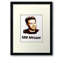 Sad Affleck - Batman vs. Superman Framed Print
