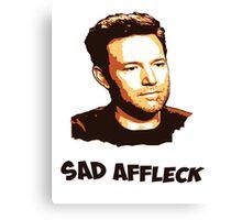 Sad Affleck - Batman vs. Superman Canvas Print