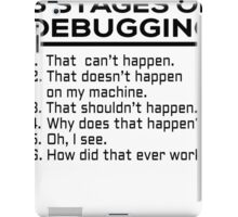 6 stages of debugging iPad Case/Skin
