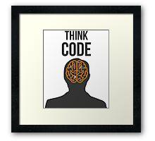 Think Code Framed Print