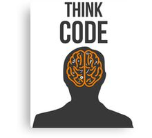 Think Code Canvas Print