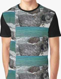 Beachside Rocks. Graphic T-Shirt