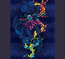 skeleton fluid multi-color Unisex T-Shirt